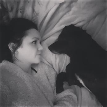 Myself and Jessie, my friend's dog.