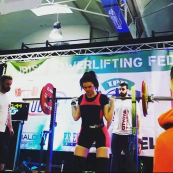 Me at my second IPF Powerlifting competition in September 2017